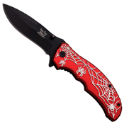 Dark Side Blades A047 4.5 Inch Spider Web Folding Knife