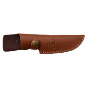 Elk Ridge Wood Handle Fixed Blade Knife w/ Leather Sheath