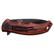 Elk Ridge Pakkawood Handle Folding Blade Knife