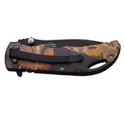Elk Ridge Stainless Steel Handle w/ Overlay Folding Knife