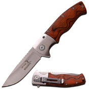 Elk Ridge Wooden Handle Folding Knife