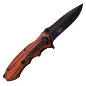 Elk Ridge ER-A160 Pakkawood Handle Folding Knife