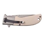 Elk Ridge Stamped Stainless Steel Bolster Folding Knife