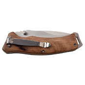 Elk Ridge Zebra Wood Handle Folding Blade Knife