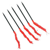 Throwing Spikes With Red Tassels 5 Pcs Set