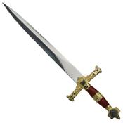 HK-024RD Red Handle King Solomon Short Medieval Sword