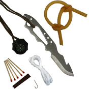 Survivor Fixed Blade Knife with Survival Kit