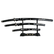 JS-697 40.5 Inch Overall Samurai Sword 3 Pcs Set w/ Display Stand