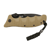 MTech USA Desert G10 Spacer Half Serrated Folding Blade Knife