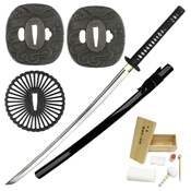 Ten Ryu MA-203BK 1045 Carbon Steel Samurai Sword