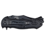 Masters Collection Lasered Dragon Folding Knife