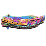 Masters Collection Dragon Sculptured Folding Knife