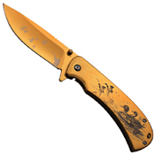 Masters Collection Laser Etch Artwork Folding Blade Knife