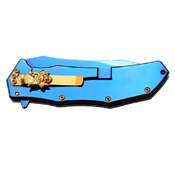 Master Collection Laser Etch Blade 4.75 Inch Closed Folding Knife
