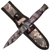 MTech USA Rubber Handle Fixed Blade Knife