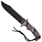 M-Tech USA Digital Camo Nylon Fiber Handle Fixed Blade Knife