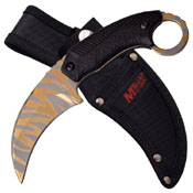 MTech USA Titanium Coated Stainless Steel Blade Fixed Knife
