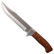 MTech USA 5 Inch Polished Pakkawood Handle Fixed Knife