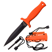 Master USA Black ABS Handle Fixed Blade Knife