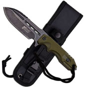 Mtech Xtreme Fixed Blade Knife - Army Green Handle