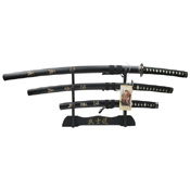 SW-68L4 Stainless Steel Blade 3 Pcs Samurai Sword Set