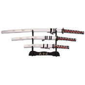 SW-68LWH4 Carbon Steel Blade 3 Pcs Samurai Sword Set