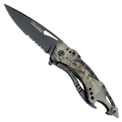 Tac-Force Half Serrated Blade Folding Knife