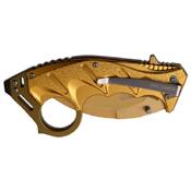 Tac-Force TF-957 Anodized Handle Karambit Blade Spring Assisted Knife