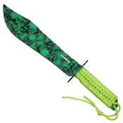 Z Hunter ZB-031 Green Skull Camo Coated Fixed Knife - 15 Inch