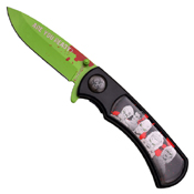 Z Hunter ZB-118 Nylon Fiber Handle Folding Knife - Green/Black