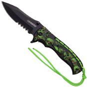 Z-Hunter ZB-144 Skull Pattern on Handle Folding Knife