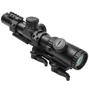 NcStar Evolution Series 1.1-4x24 Mil-Dot Scope with SPR Mount Combo