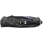 Schrade Black Tanto 40 Percent Serrated 4116 Steel Push Button Lock