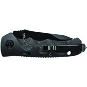 Schrade Mini Black Tanto 4116 Steel Push Button Lock