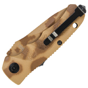 Schrade Mini Desert Camo Aluminum Handle Folder Knife