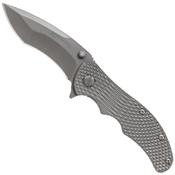 Schrade SCH601TI Textured Titanium Handle Folding Blade Knife