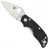 Cat C129G Plain Edge Folding Knife - Black