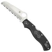 Rescue 3 Serrated Edge Folding Knife - Black
