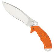 Spyderco Rock Salt Fixed Knife With Satin Plain Blade