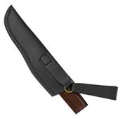Spyderco Puukko Ironwood Plain Edge With Leather Sheath Fixed Blade Knife