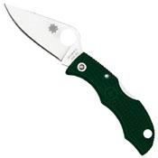 Spyderco Ladybug3 Knife - Green Handle
