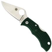 Spyderco Manbug Knife - Green Handle