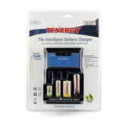 Tenergy T4 Intelligent 4-Bay Universal Charger W/Car Charger