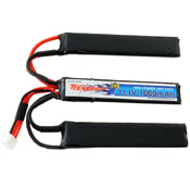 Crane Style 11.1V 1000mAh Buffer Tube LiPo Battery