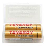 Tenergy T35P 3.6V 18650 Rechargeable Li-ion Battery - 2pk