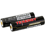 Tenergy Li-ion 18650 3500mAh W/ Micro-USB Charging Port 2-Pack