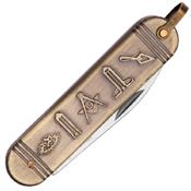 Masonic Gold Folding Pocket Knife
