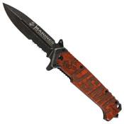 USMC Beachhead Partially Serrated Folding Pocket Knife
