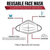 Ultra Force Half Skull Face Mask 3-Layer