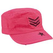 Womens Vintage Stripes & Stars Adjustable Fatigues Cap